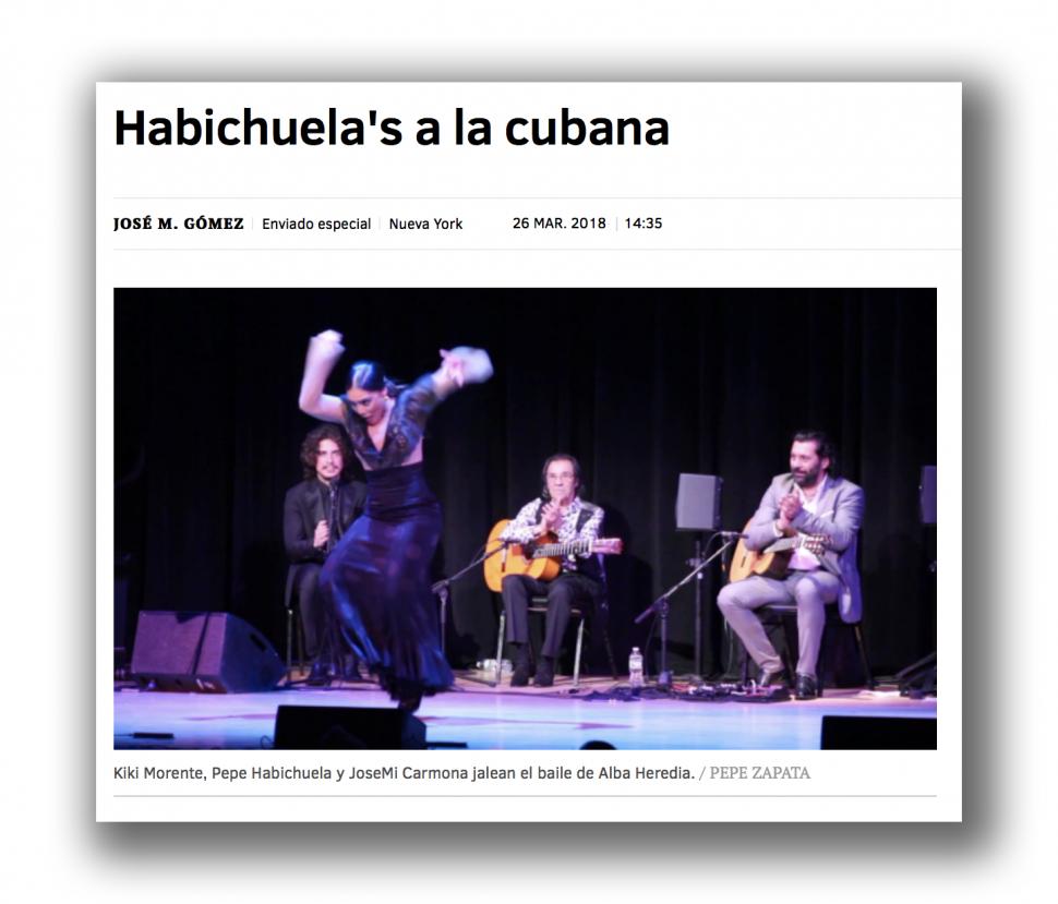 Pepe Habichuela en Nueva York